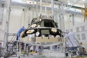 Development of the Orion module. Photo credit, NASA