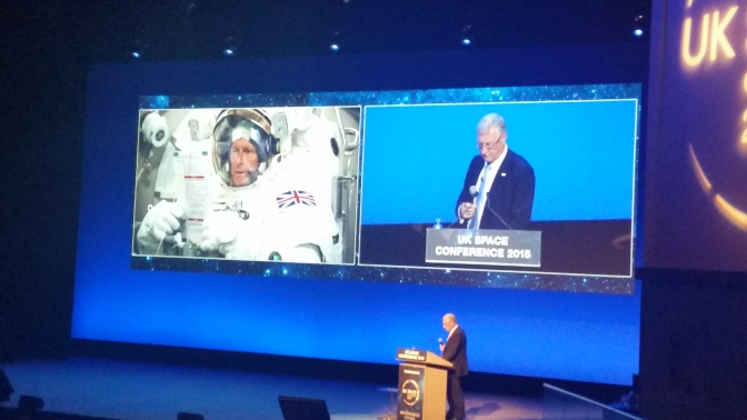 Tim Peake Phones Into Conference