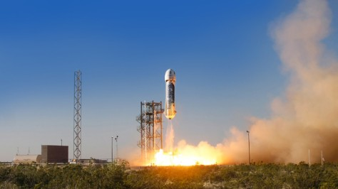 Blue Origin launch. Photo credit Blue Origin.