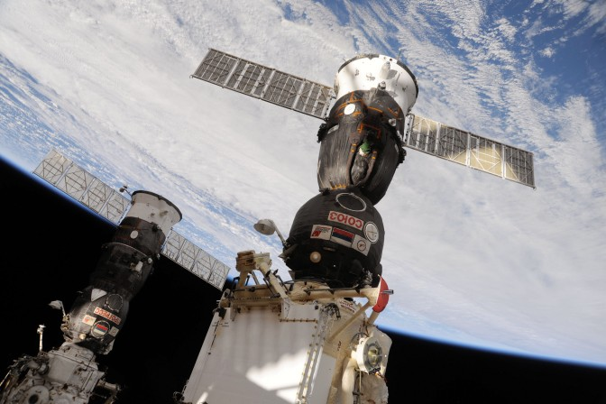 Finally a docking at the International Space Station as Astronauts Arrive