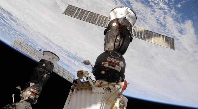 Soyua craft docked at ISS.  Credit: NASA