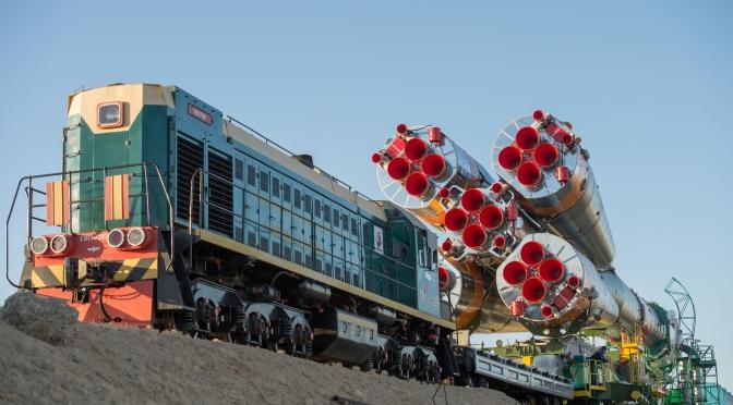 soyuz on train
