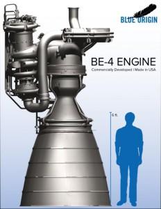 Blue Origin BE-4 Rocket Engine. Click for larger image, Credit: Blue Origin.