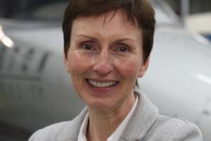 First British astronaut Helen Sharman.