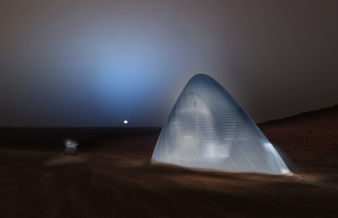 The first-place award of $25,000 went to Team Space Exploration Architecture and Clouds Architecture Office of New York, New York, for their design, Ice House. Image Credit: SEArch/Clouds Architecture Office Read more at http://www.spaceflightinsider.com/space-flight-news/ice-house-wins-nasa-3-d-printed-habitat-challenge/#CoZFfM22xG3Aors5.99