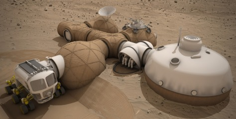 Team LavaHive was awarded third place honors for their Mars habitat design. Image Credit: Team LavaHive Read more at http://www.spaceflightinsider.com/space-flight-news/ice-house-wins-nasa-3-d-printed-habitat-challenge/#CoZFfM22xG3Aors5.99